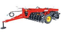 PGD-N CENTRAL WHEELS TRAILED DISC HARROW